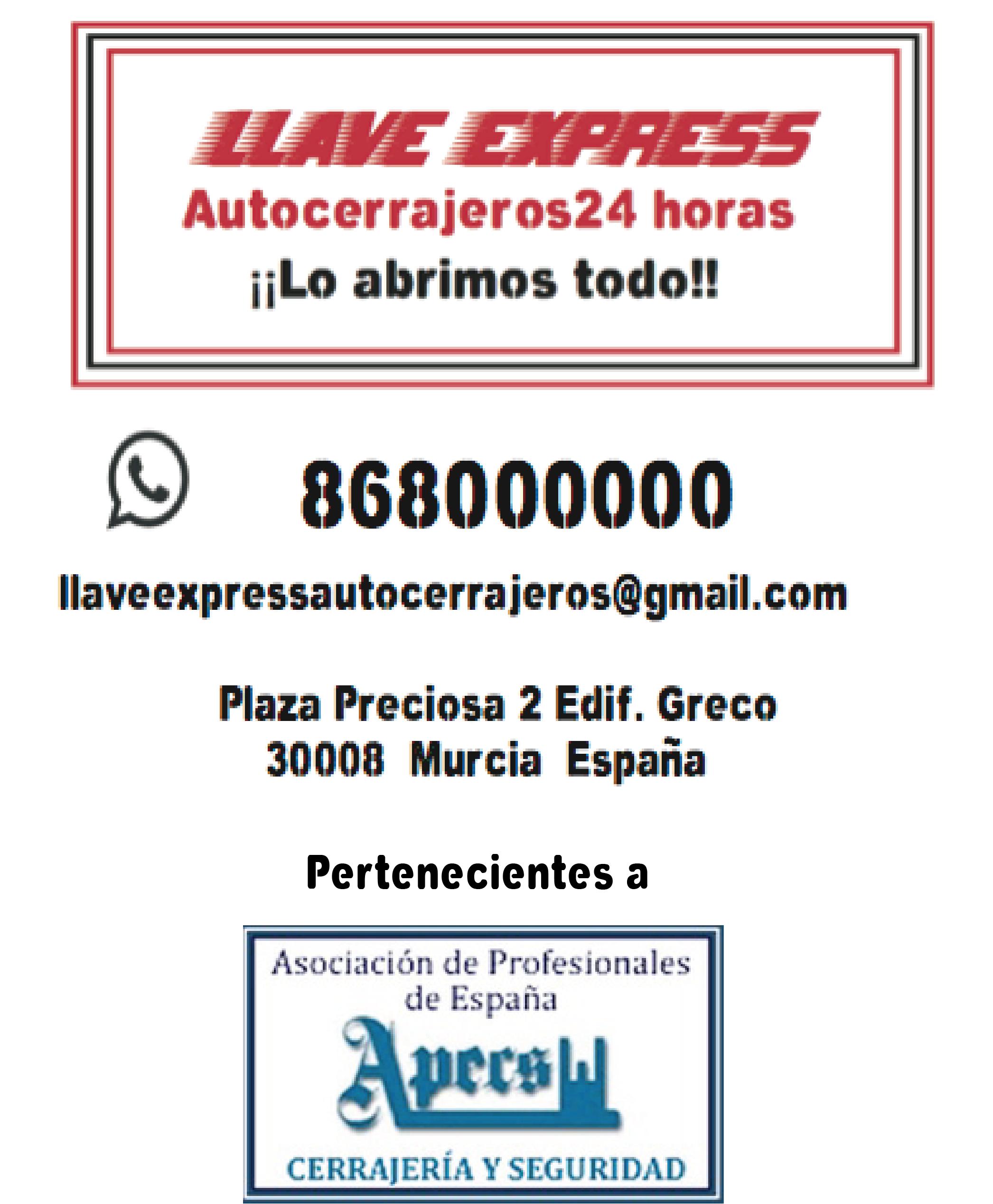 contactos llave express 2015